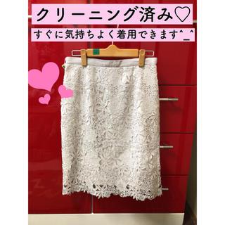 ジャスグリッティー(JUSGLITTY)の【ジャスグリッティー 】タイトスカート♡色はホワイトです^_^(ひざ丈スカート)