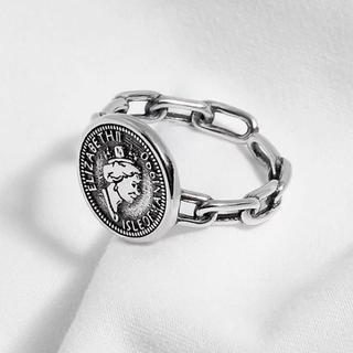 マウジー(moussy)のインポート チェーン コイン シルバー 925 リング(リング(指輪))