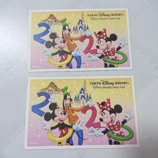 ディズニー(Disney)のディズニーチケット 大人 2枚セット(キッズ/ファミリー)