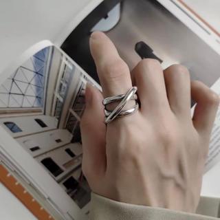 アーバンリサーチ(URBAN RESEARCH)のインポート  多重クロス シルバー 925 ボリュームリング(リング(指輪))