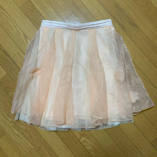 ロディスポット(LODISPOTTO)のLODISPOTTO チュールスカート(ピンク)(ひざ丈スカート)