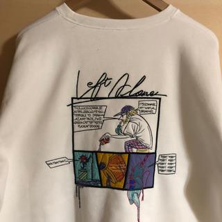 Supreme - レフトアローン leftalone スウェット 白 刺繍