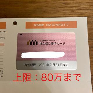 イセタン(伊勢丹)の80万まで利用可能*三越伊勢丹 株主優待 カード(ショッピング)