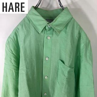 ハレ(HARE)の【希少】HARE FRENCH LINEN シャツ ミントグリーン 七分袖(シャツ)