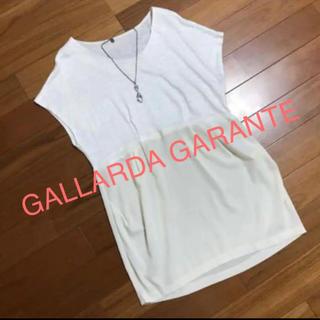 ガリャルダガランテ(GALLARDA GALANTE)の⭐️パンツと合わせて ゆったり着る❣️トップス麻100で心地良い異素材チュニック(チュニック)