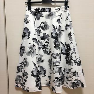 ジャスグリッティー(JUSGLITTY)の美品 JUSGLITTY 水彩フラワースカート(ひざ丈スカート)