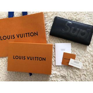 シュプリーム(Supreme)のsupreme  × LOUIS VUITTON 国内正規品 長財布 黒 美品(長財布)