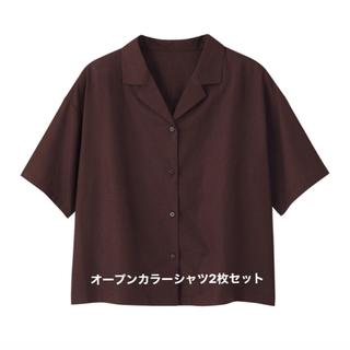 ジーユー(GU)の【夏物SALE】リネンブレンド/レースオープンカラーシャツ2枚セット(シャツ/ブラウス(半袖/袖なし))