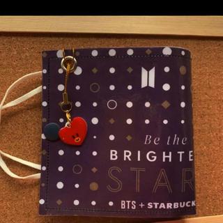 スターバックスコーヒー(Starbucks Coffee)のBTS スタバ限定ショッパーリメイク マスクケース おまけストラップ付き(K-POP/アジア)