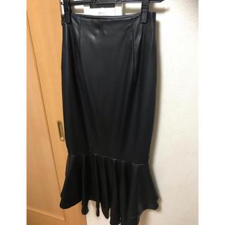 エイミーイストワール(eimy istoire)のeimyレザースカート(ひざ丈スカート)
