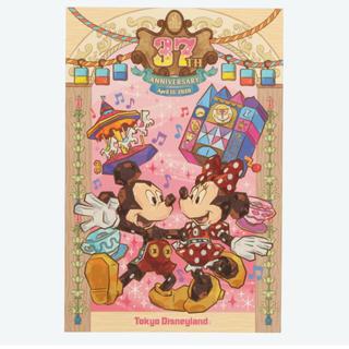 ディズニー(Disney)のディズニーランド 37周年 ポストカード & 巾着(キャラクターグッズ)