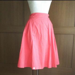 カワイイ(cawaii)のcawaii ミモレ丈 オレンジスカート(ひざ丈スカート)