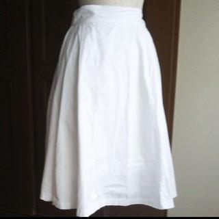 カワイイ(cawaii)のcawaii ミモレ丈 綿 ホワイトスカート(ひざ丈スカート)
