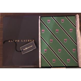 ポロラルフローレン(POLO RALPH LAUREN)の新品 ラルフローレン ノートブック 緑 レジメンタル シルク POLO(その他)