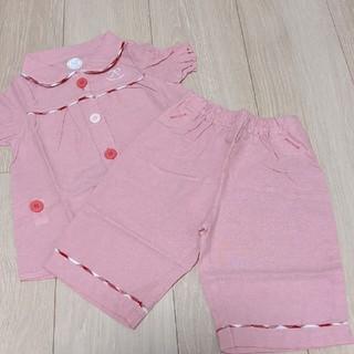 コンビミニ(Combi mini)の☆新品タグ付☆コンビミニ 半袖前開きパジャマ  80(パジャマ)