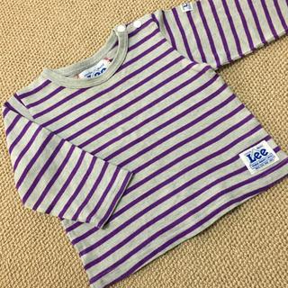 Lee - (90㎝)■リー/Lee■グレー×紫ボーダーロンT