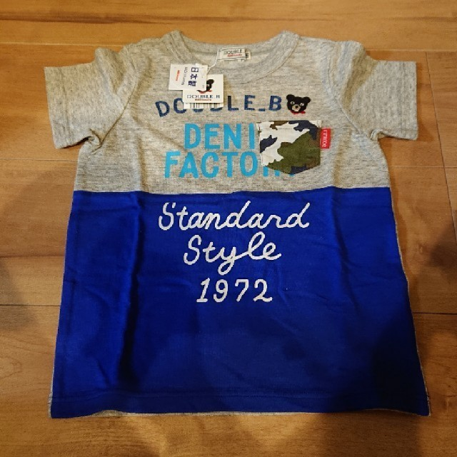 DOUBLE.B(ダブルビー)の新品 未使用 タグ付き DOUBLE.B Tシャツ 100cm キッズ/ベビー/マタニティのキッズ服男の子用(90cm~)(Tシャツ/カットソー)の商品写真
