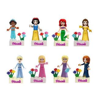 Disney - 新品未開封!ディズニー プリンセス LEGO レゴ互換 ミニフィグ 8体 SET