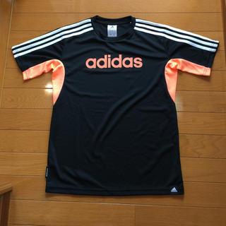 adidas - adidas Tシャツ 160cm ボーイズ ブラック✖︎オレンジ アディダス