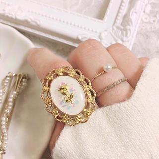 フーズフーチコ(who's who Chico)のホログラムと薔薇リング 指輪 ハンドメイド(リング)