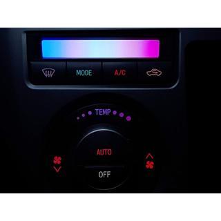 ダイハツ - ムーヴ L175S エアコンスイッチパネル 7色レインボー LED打ち替え品