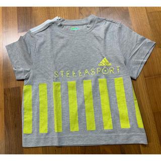アディダスバイステラマッカートニー(adidas by Stella McCartney)のアディダス adidas by Stella sport 半袖グレー×黄Tシャツ(ウェア)