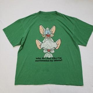 【希少】PINKY THE BRAIN キャラt肩幅57身幅57袖丈19着丈71(シャツ)