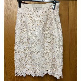 ジャスグリッティー(JUSGLITTY)のレーススカート(ひざ丈スカート)