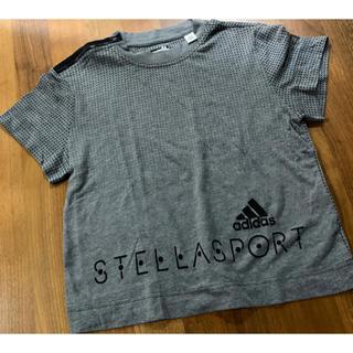 アディダスバイステラマッカートニー(adidas by Stella McCartney)のアディダス adidas by Stella sport 半袖グレー×黒Tシャツ(ウェア)