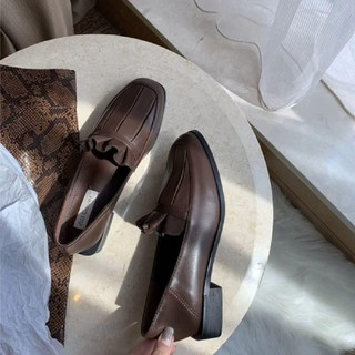 merry jenny - FRILL LEATHER SHOES.