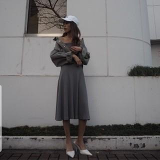 ジェイダ(GYDA)の2WEY TEREKO FLARE ONE PIECE(ひざ丈ワンピース)