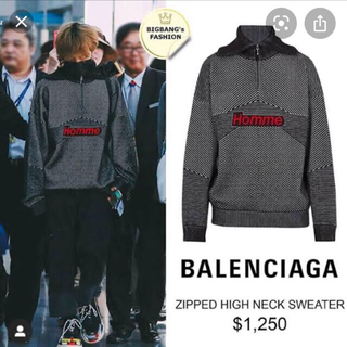 Balenciaga - balenciaga homme ジップハイネックセーター