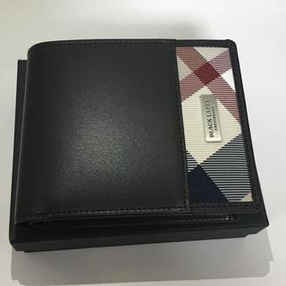 ブラックレーベルクレストブリッジ(BLACK LABEL CRESTBRIDGE)の新品未使用!ナイロンクレストブリッジチェック コインタイプ ブラウン 折り財布(折り財布)