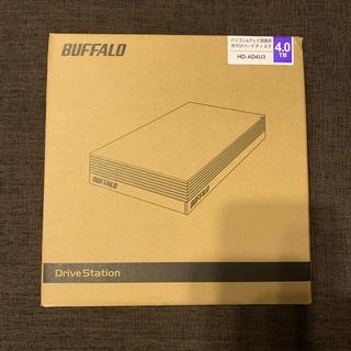 バッファロー(Buffalo)のBUFFALO 外付けHDD 4.0TB HD-AD4U3(PC周辺機器)