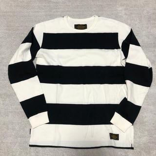 ネイバーフッド(NEIGHBORHOOD)のネイバーフッド 長袖Tシャツ  カラー 白×黒  サイズ M  (Tシャツ/カットソー(七分/長袖))