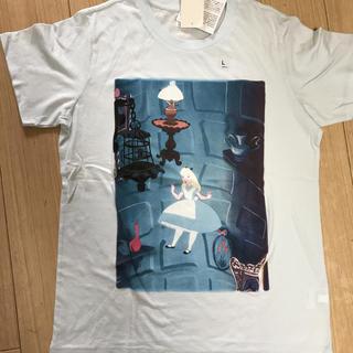 フシギノクニノアリス(ふしぎの国のアリス)の廃盤商品・レア UNIQLO×Disney 不思議の国のアリスTシャツ Lサイズ(Tシャツ(半袖/袖なし))