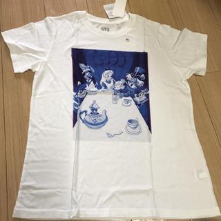 フシギノクニノアリス(ふしぎの国のアリス)の廃盤商品レア UNIQLO×Disney 不思議の国のアリスTシャツ XLサイズ(Tシャツ(半袖/袖なし))