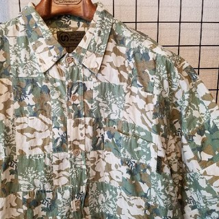 ステューシー(STUSSY)のSTUSSY × SURPLUS camo patchwork shirt(シャツ)