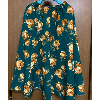 カワイイ(cawaii)のcawaii 花柄スカート フリーサイズ 大きいサイズ(ひざ丈スカート)
