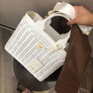 PRADA - 即購入OK 極美品 PRADA プラダ かごバッグ