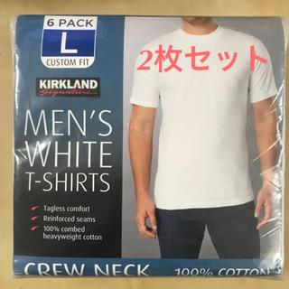 コストコ(コストコ)のコストコ カークランド Tシャツ Lサイズ 2枚パック(Tシャツ/カットソー(半袖/袖なし))