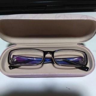 紫、蝶々メガネ、ケース付新品試着のみ!(サングラス/メガネ)