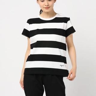 アニエスベー(agnes b.)の美品 agnes b. 限定 ボーダーカットソー(Tシャツ(半袖/袖なし))
