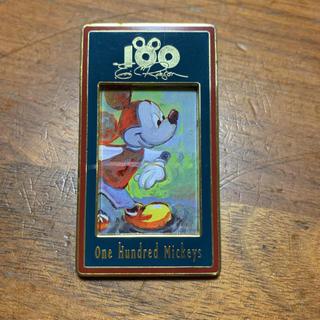 ミッキーマウス(ミッキーマウス)のカリフォルニア ディズニーランド 100周年記念 ピンバッチ(バッジ/ピンバッジ)