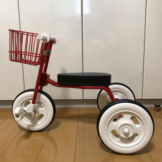 MUJI (無印良品) - 無印良品 三輪車 カゴ付き