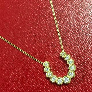 4℃ - 4°C 馬蹄 ネックレス ダイヤモンド ホースシュー  ペンダント k18 金