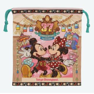 ディズニー(Disney)のディズニーランド 37周年 巾着(キャラクターグッズ)