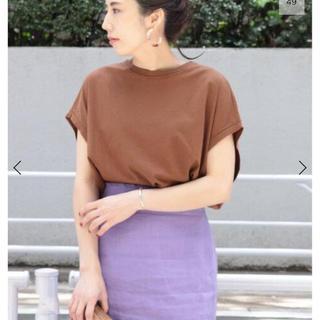プラージュ(Plage)の新品 plage リヨセルハイゲージTシャツ ブラウン(Tシャツ(半袖/袖なし))