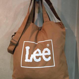 リー(Lee)のLee 2WAY ビッグトートバッグ ショルダーバッグ ブラウン ラスト (ショルダーバッグ)