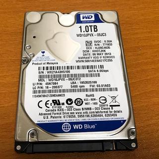 """ノートPC ハードディスク (HDD)/WD/1TB/2.5""""/9.5mm"""